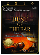 Best of the Bar 2016 San Diego Business Journal